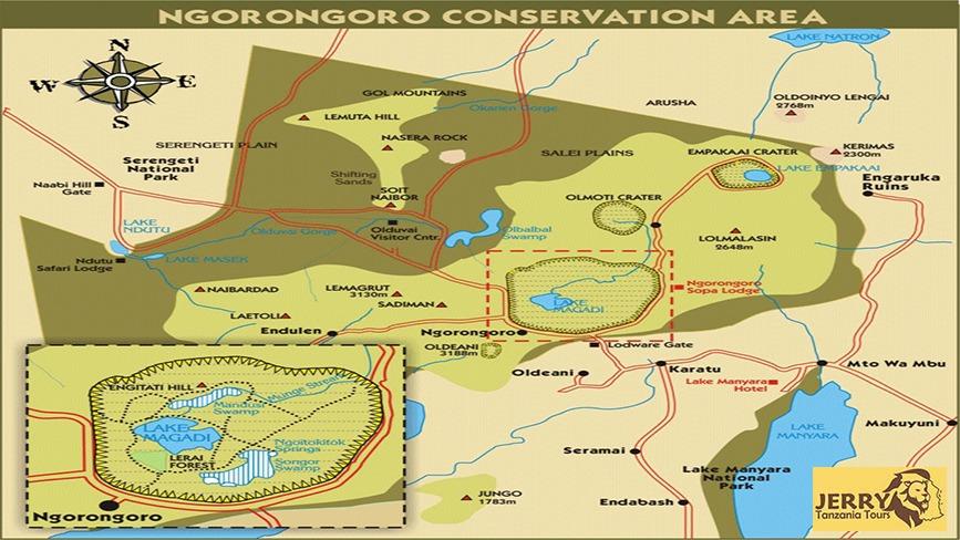 Location Of Ngorongoro Conservation Area